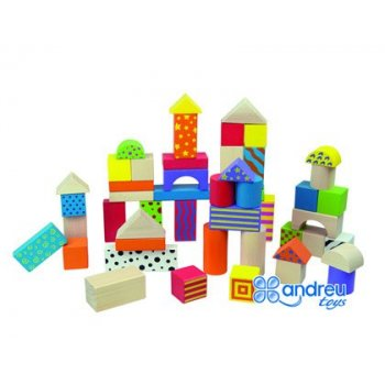 Juego ambitoys construccion bloques madera 50 piezas 18x18 cm