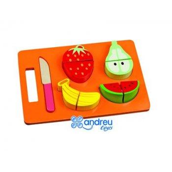 Juego ambitoys bandeja frutas para cortar 21,4x15x3 cm