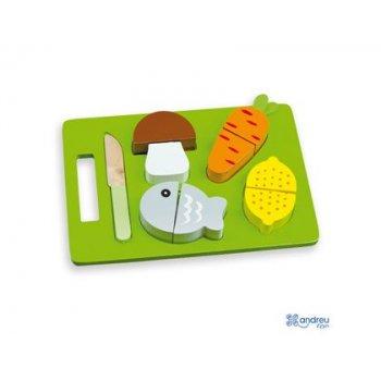 Juego ambitoys bandeja alimentos para cortar 21,4x15x3 cm