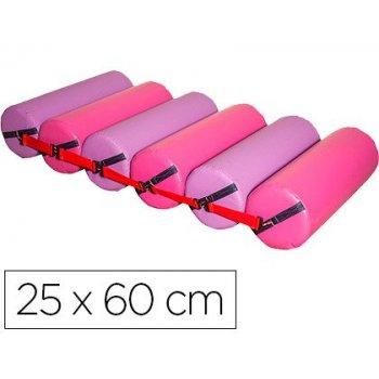 Rodillo deslizantes sumo didactic 6 cilindros fucsia   lila 25 cm de diametro x 60 cm alto