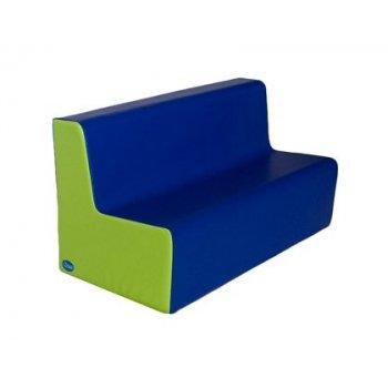 Sillon sumo didactic mediano triple alt asiento 25 cm azul   pistacho 100x45x50 cm