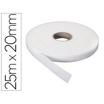 Cinta de velcro adhesivo sumo didactic rugosa rollo 25 mx20 mm