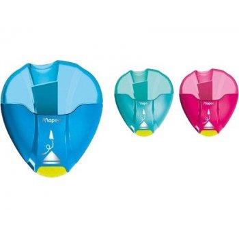 Sacapuntas plastico maped i-gloo 1 uso con deposito colores surtidos