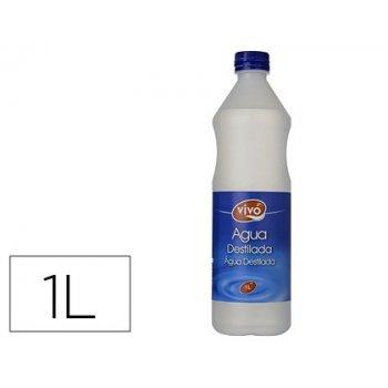 Agua destilada vivochef botella 1l