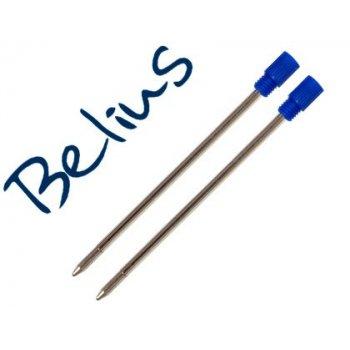 Recambio boligrafo belius azul medio para modelo granada y minsk bolsa de 2 unidades