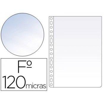 Funda multitaladro esselte folio polipropileno 120 mc cristal caja de 100 unidades