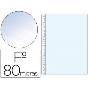 Funda multitaladro esselte folio polipropileno 80 mc cristal caja de 100 unidades