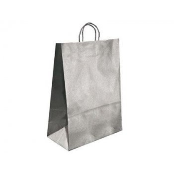 Bolsa kraft q-connect plata asa retorcida 420x190x480 mm