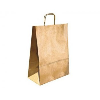 Bolsa kraft q-connect oro asa retorcida 240x100x310 mm