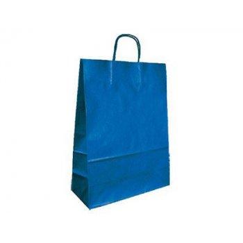 Bolsa kraft q-connect azul asa retorcida 270x120x360 mm