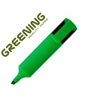 Rotulador greening fluorescente punta biselada verde