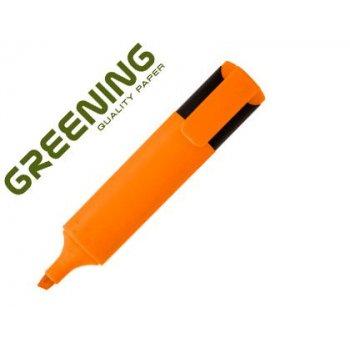 Rotulador greening fluorescente punta biselada naranja