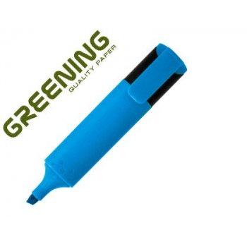 Rotulador greening fluorescente punta biselada azul