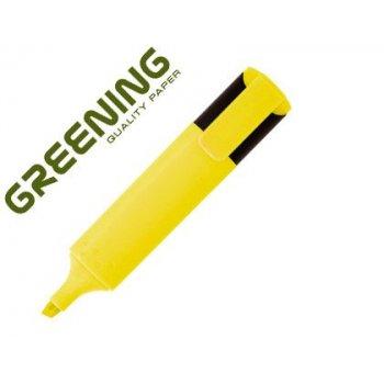 Rotulador greening fluorescente punta biselada amarillo