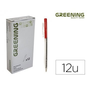 Boligrafo greening rojo retractil