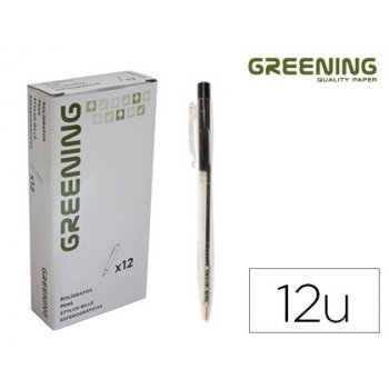 Boligrafo greening negro retractil