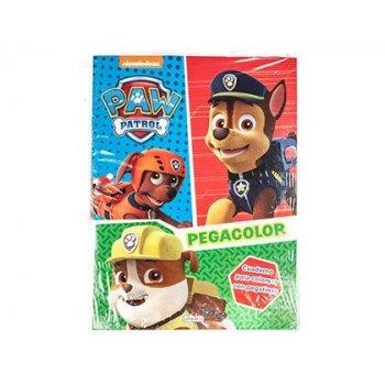 Cuaderno de colorear patrulla canina pegacolor con pegatinas 12 paginas 210x280 mm