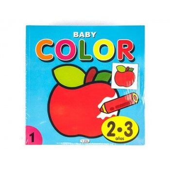 Cuaderno de colorear baby color 96 paginas 210x210 mm