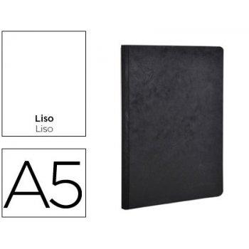 Libreta age-bag tapa cartulina lomo cosido liso 96 hojas color negro 148x210 mm