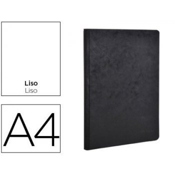 Libreta age-bag tapa cartulina lomo cosido liso 96 hojas color negro 210x297 mm