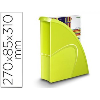 Revistero cep plastico uso vertical   horizontal verde 85x270x310 mm