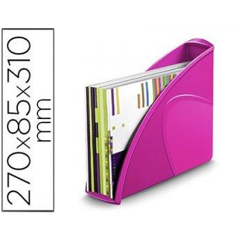 Revistero cep plastico uso vertical   horizontal rosa 85x270x310 mm