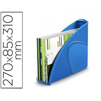 Revistero cep plastico uso vertical   horizontal azul 85x270x310 mm