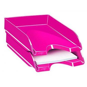 Bandeja sobremesa cep plastico rosa 257x348x66 mm