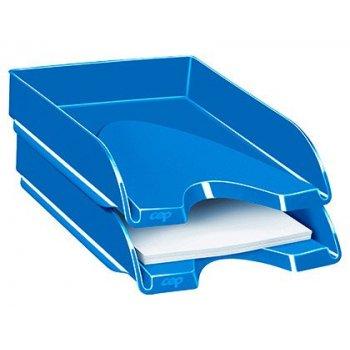 Bandeja sobremesa cep plastico azul 257x348x66 mm