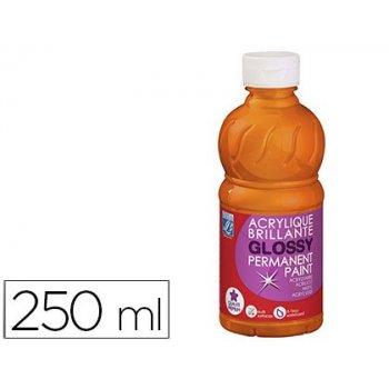 Pintura acrilica l&b brillo naranja bote de 250 ml