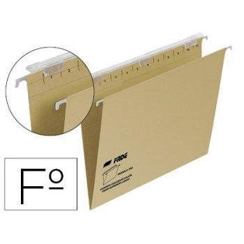 Carpeta colgante fade tiki folio prolongado visor superior 290 mm efecto lupa kraft eco 230 g m lomo v
