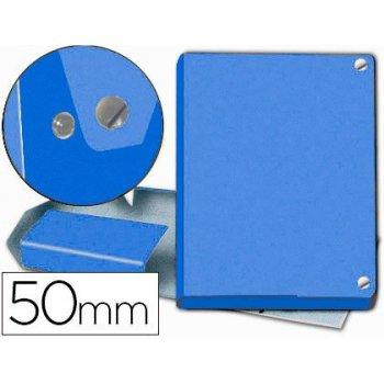 Carpeta proyectos pardo folio lomo 50 mm carton forrado azul con broche