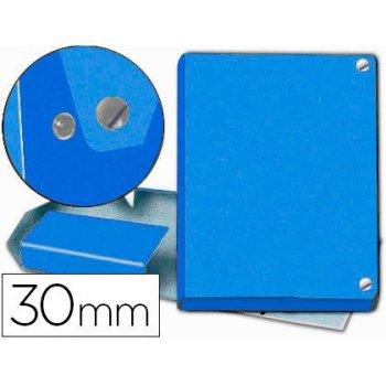 Carpeta proyectos pardo folio lomo 30 mm carton forrado azul con broche
