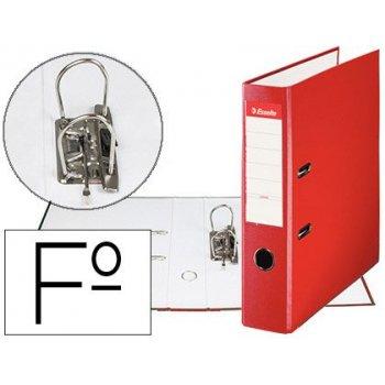 Archivador de palanca esselte carton forrado pvc folio lomo de 75 mm con rado rojo