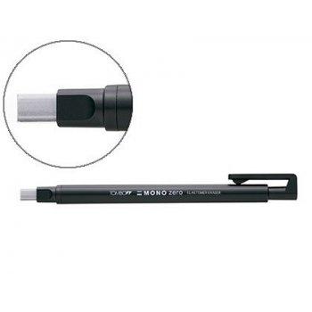 Portagomas tombow con clip punta goma blanca rectangular 2,5 x 5 mm color negro