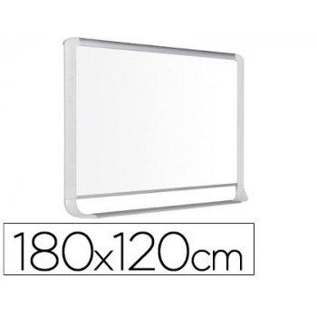 Pizarra blanca bi-office lacada con bandeja integrada 1800x1200 mm