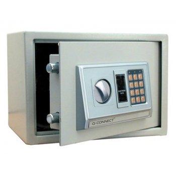 Caja de seguridad q-connect electronica clave digital capacidad 10l con accesorios fijacion 310x200x200 mm
