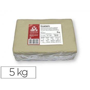 Pasta de modelar sio-2 gres granada para escultura y modelado paquete de 5 kg