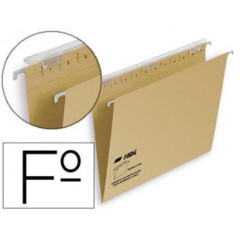 Carpeta colgante fade tiki folio visor superior 290 mm efecto lupa kraft eco 230 g m lomo v