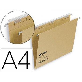 Carpeta colgante fade tiki din a4 visor superior 290 mm efecto lupa kraft eco 230 g m lomo v
