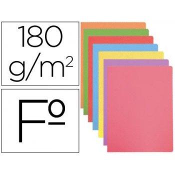 Subcarpeta cartulina gio folio colores pasteles surtidos 180 gr m2 paquete de 50 unidades