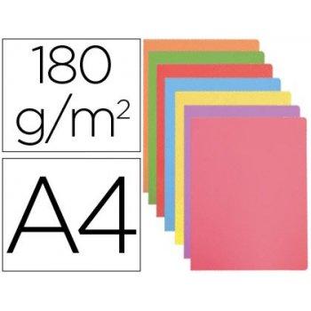 Subcarpeta cartulina gio din a4 colores pasteles surtidos 180 g m2 paquete de 50 unidades