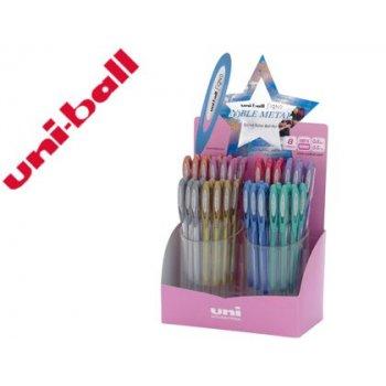 Boligrafo uni ball um-120 signo 0,7 mm tinta gel expositor de 48 colores metalizados