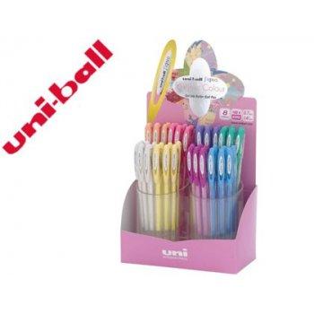 Boligrafo uni ball um-120 signo 0,7 mm tinta gel expositor de 48 colores pastel