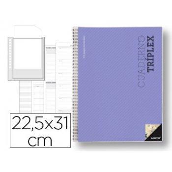 Bloc triplex additio plan curso evaluacion continua plansemanal tutorias mas 6 fundas ransparentes 22,5x31cm catalan
