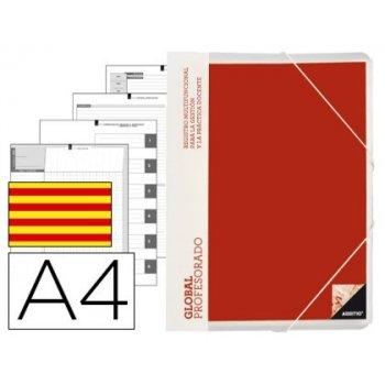Carpeta global additio a4 con evalucion continua programacion tutoria y reuniones en catalan