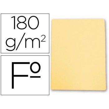 Subcarpeta cartulina gio folio amarillo pastel 180 g m2