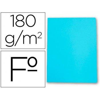 Subcarpeta cartulina gio folio celeste pastel 180 g m2