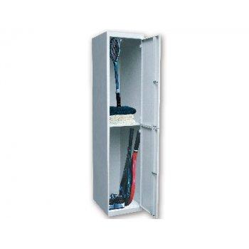 Taquilla metalica ar storage 50x180x40 cm 2 puertas con llave color gris inicial