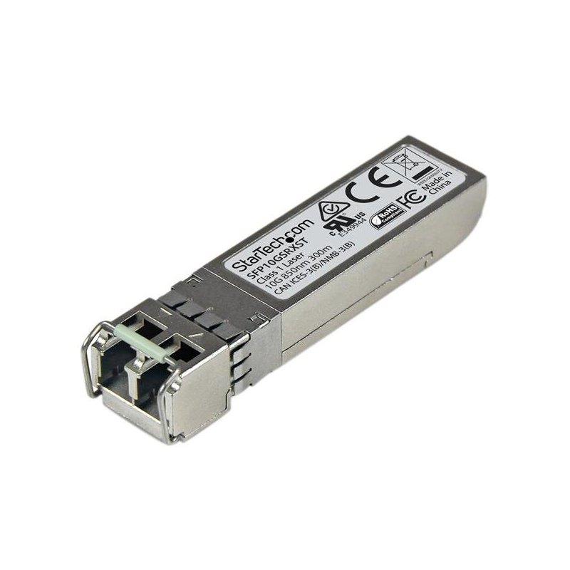 StarTech.com Módulo SFP+ Compatible con Cisco SFP-10G-SR-X - Transceptor de Fibra Óptica 10GBASE-SR - SFP10GSRXST